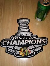 """CHICAGO BLACKHAWKS 2013 Stanley Cup Champions LARGE PATCH 9"""" x 10"""" NEW NHL"""