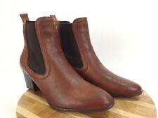 David Tate Napa Flex Women's Brown Chelsea Ankle Boots Stretch Size EUR 38 US 7