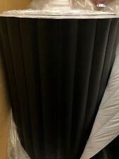 vinyl pleats 2'' black automotive/marine grade heat sealed