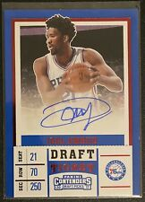 2017 Contenders Joel Embiid Red Foil Draft Ticket Auto