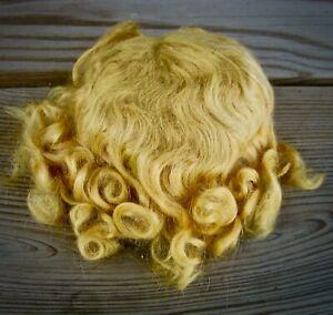 Vintage mohair doll wig golden blonde sz 12 4 compo bisque head doll orig curls