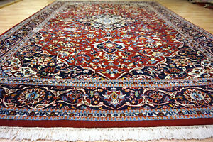 Schöner handgeknüpfter Bidjar Herati 354x249 cm Orient Teppich 4990 Nain Ghom