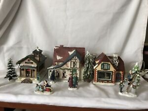 christmas village accessories ,with two gofters