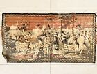 """Antique Vintage Italy Spanish Conquistador Theme Small Tapestry Rug 40"""" X 21"""""""