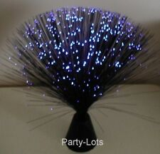 (1) BLACK ~ FIBER OPTIC BLUE ~ PARTY LIGHT/ NIGHT LAMP