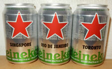 3 HEINEKEN World Cities Beer cans from HOLLAND (33cl) for CANADA