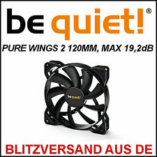 [be quiet!®] PURE WINGS 2 120mm Gehäuse-Lüfter/Fan →19,2dB Case Kühler PC 12cm