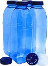 Trinkflasche 4 x 1 L. Achteckflasche Flasche aus Tritan + extra