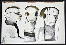 SERGIO PAYARES Drawing on Paper.CUBAN Art.Arte Cubano.Original Artwork.Signed!