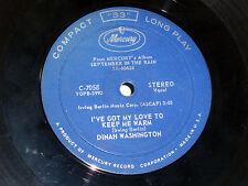 Dinah Washington: I've Got My Love....  / I Was Telling Him About You [VG Copy]