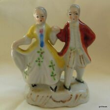 Little Dancing Man and Woman in 18th Century Clothes Hand Painted Occupied Japan