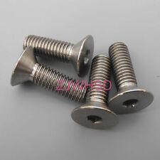 4pcs M5 x 16 Titanium Ti Screw Bolt Allen hex Socket Flat head for SPD Cleats