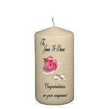 Personalised Congratulations On Your Engagement Keepsake Candle Novelty Gift