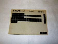 KAWASAKI KE100 KE 100 B10 GEN PART CATALOGUE MICROFICHE