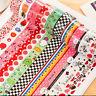 10Pcs Lots Paper Sticky Adhesive Sticker Decorative Washi Tapes Magic Hot Sale