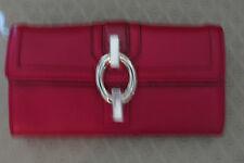 Diane von Furstenberg Sutra Flap Continental Red Leather Wallet �?NWT - $195