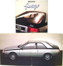 Renault fuego 1980-81 original french dépliant vente brochure pub. no. 20 101 05
