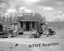 Photograph of Buttermilk Junction Martin County Indiana Gas Station Year 1937