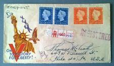 NED. INDIE Batavia 1948 registered letter by boat to U.S.A. BC43