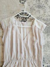 Sommerkleid von Esprit Chiffon 40/ 42  Xl L Kleid beige ecru Top wie Neu