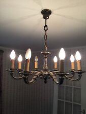 Messing Leuchter, Kronleuchter, 8 Armig, Kerzenleuchter, Lüster