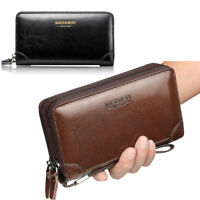Men Hand Bag Clutch Bag Genuine Leather Cell Phone Holder Wallet Wrist Bag Hot