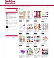 WEDDING SUPPLIES WEBSITE - UK ONLINE BUSINESS OPPORTUNITY - ONE YEARS HOSTING