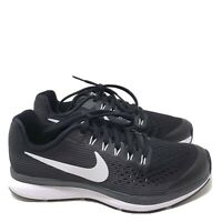 B615 Nike Boys Zoom Pegasus 34 GS Running Shoe Black/White/Dark Grey US 5.5 Y