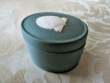 Vintage Wedgwood Teal Green Sea Shell Small Box