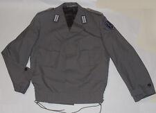 GERMAN ARMY MEDICAL OFFICER WOOL BLEND JACKET! GRAY! SIDE LACINGS! EPAULETS! 38