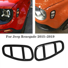 Fit for Jeep Renegade 2015-2019 Side Lamp Cover Black Car Styling Accessories