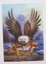 3D Moving Bird Of Prey Eagle Vintage 80s Postcard Sticker