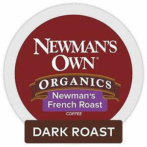 Newman's Own Organics French Roast Coffee 24 to 144 Keurig K cups Pick Any Size