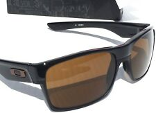 NEW* Oakley TWO FACE Black polished Brushed w BRONZE Lens Sunglass Golf 9189-03