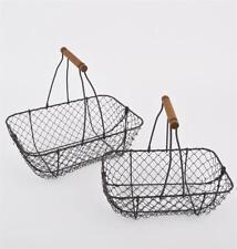 Metal Rectangular Decorative Baskets with Handle
