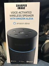 Sharper Image Voice Activated Speaker (WITH AMAZON ALEXA) Style #SWF1004BK