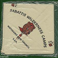 BOY SCOUT NECKERCHIEF - SABATTIS WILDERNESS CAMPS                      XX