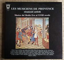 Les musiciens de provence strumenti antichi  - BOX 3 LP ARION PARN 326/8