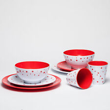 Barel Shooting Star 8 Piece Melamine Dinner Set Red - Tumblers, Bowls, & Plates!