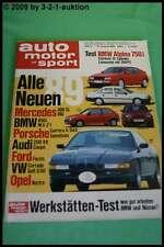 AMS Auto Motor Sport 17/88 BMW Alpina B12 Peugeot 405 Turbo 16 VW Golf GT Passat