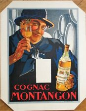 Cocnac Montangon 1920 Color Litho French Advertising Poster - Paris Printer