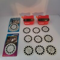 Vintage 3D Viewmaster Lot of 2 w/ 15 Slides, Yellowstone, Black Hills, Spiderman