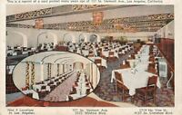 Los Angeles CA Interior, Fancy Dining @ Ontra Cafeteria on Vermont Ave 1940s