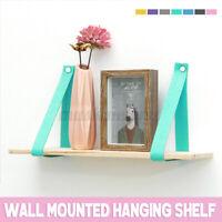 Home Wall Mounted Shelf Vintage Storage Floating Board Hanging Rack Bracket US