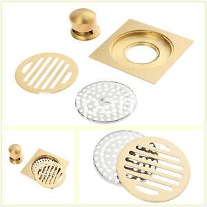 100mm Square Brass Shower Grate Kitchen Bathroom Floor Drain Grates Waste