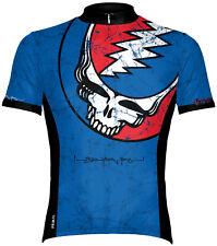 Primal Wear Grateful Dead Steal Your Face Lightning Skull Cycling Jersey Mens