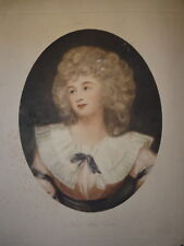 George ROMNEY (1734-1802) IMMENSE GRAVURE PORTRAIT MARK CURRIE FEMME MODE UK