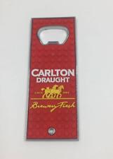 Carlton Draught Bottle Opener steel and rubber