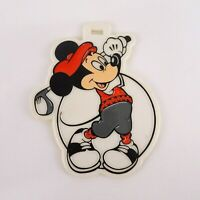 Vintage Mickey Mouse Golf Luggage Bag Tag Color