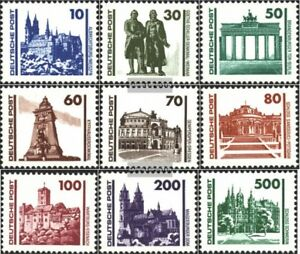DDR 3344-3352 (kompl.Ausg.) postfrisch 1990 Bauwerke und Denkmäler